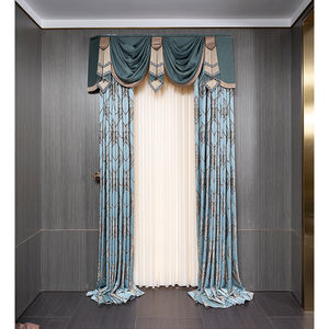 European Luxury Window Chenille embroidered curtain Fabric Silk Poly Blend Heavy Weight Chenille Jacquard for Living Room