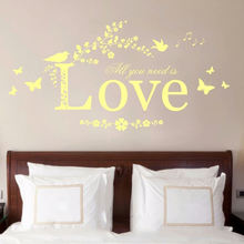 BSCI Home decoration living room large love removable waterproof custom pvc vinyl wall stickers decoration