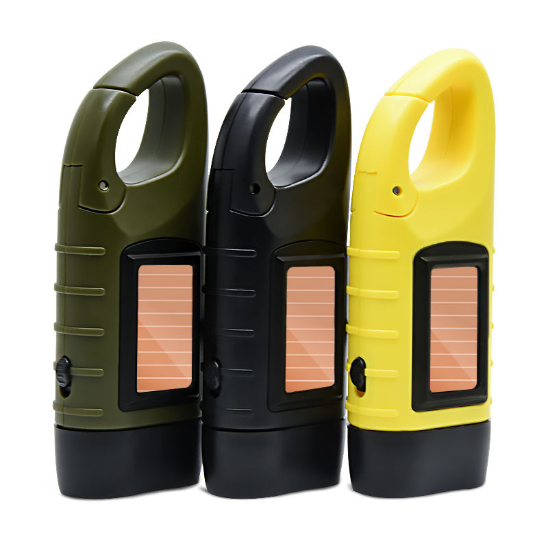 pocket solar power 1000mcd multifunctional solar led emergency light lamp led dynamo tactical flashlight