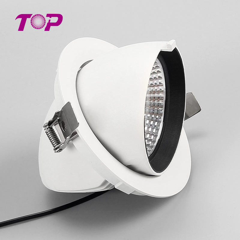 Custom manufacturer adjustable ceiling led down light white downlight fixture for home lobbies