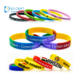 Made in china customized reusable embossed printed rubber wrist band silicone wristband custom logo for promotional gifts
