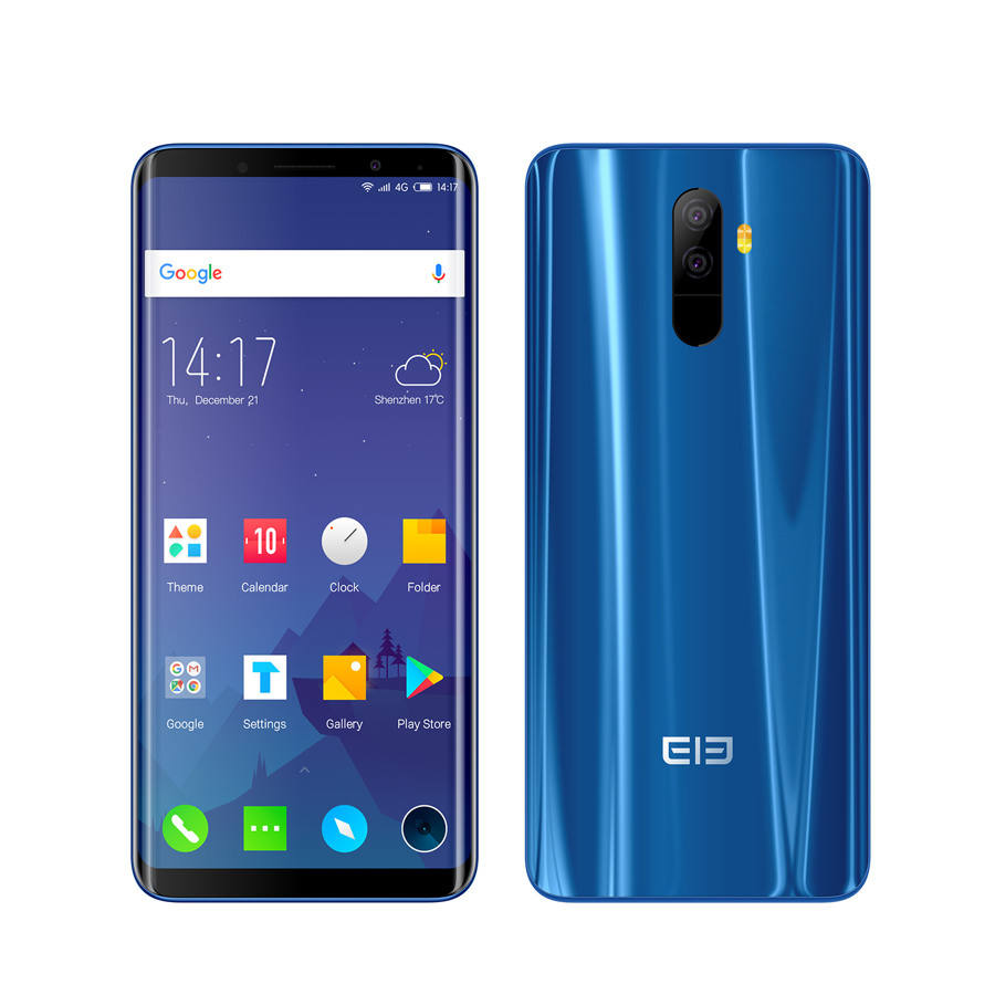 Elephone U Smartphone RAM 6GB ROM 128G Face ID Mobile phone Android 7.1 MT6763 Octa Core 5.99