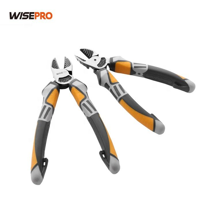Side Cutter Diagonal Wire Cutting Pliers with Wire Stripper Crimper Cutter Function Heavy Duty Linesman Pliers
