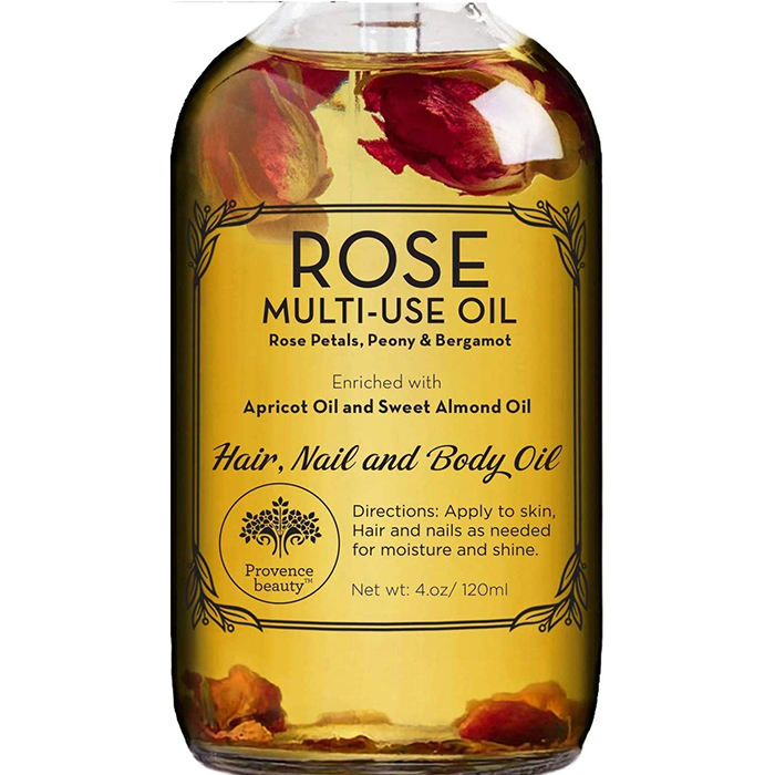 Rose essential oil petal multi use oil for face body and hair with 100 % Pure Nature