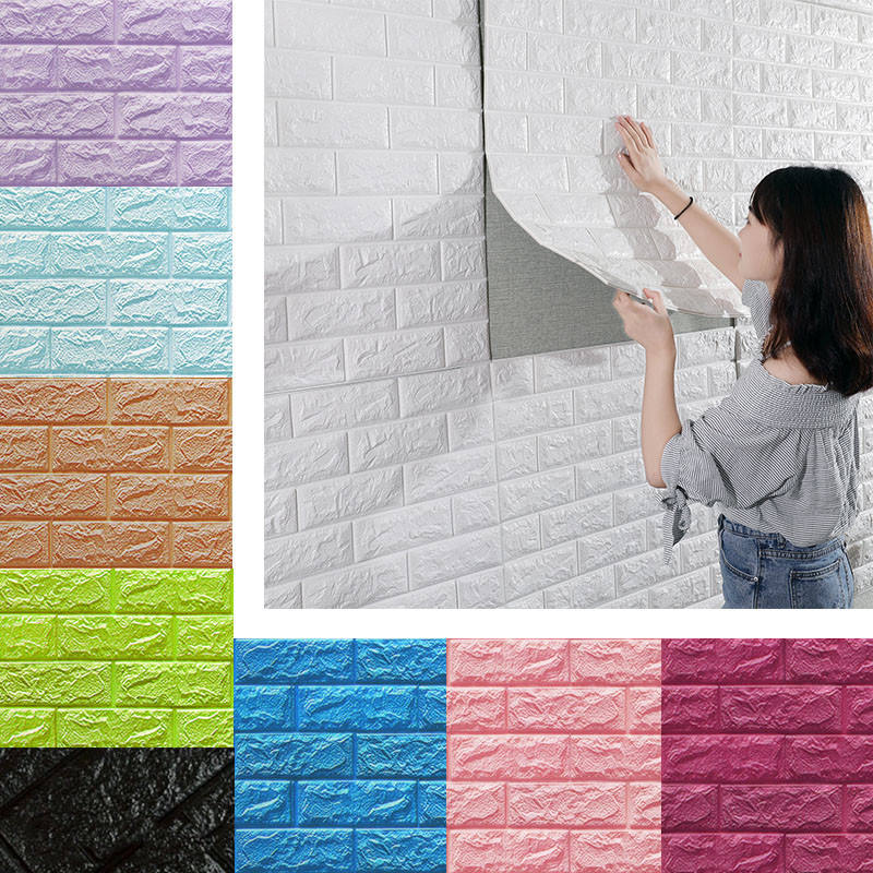 Paneles de pared 3D imitación piedra ladrillo Wallpanel para paredes de Tv, Fondo de sofá, arte de la pared decorativo Extrior y azulejos de pared interiores
