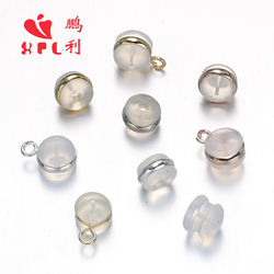 Round Silicone Earplugs Stud Eas Support Plug Earrings Jewelry Accessories H65 BRASS