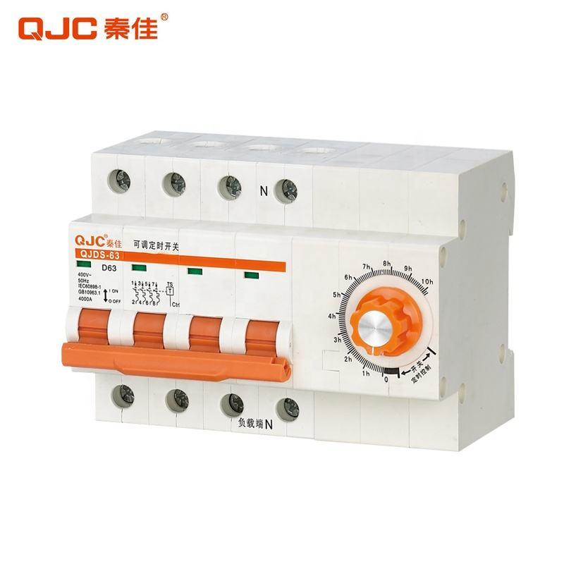 QJC Sales QJDS-63 D C Type 32A 63A Adjustable Time Time Delay Circuit Breaker Timer
