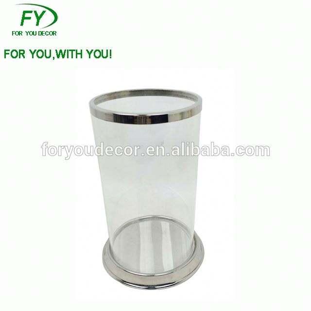 <span class=keywords><strong>CH</strong></span>-31708 Uragano del bicromato di potassio rifinito di vetro supporto di candela per il design semplice