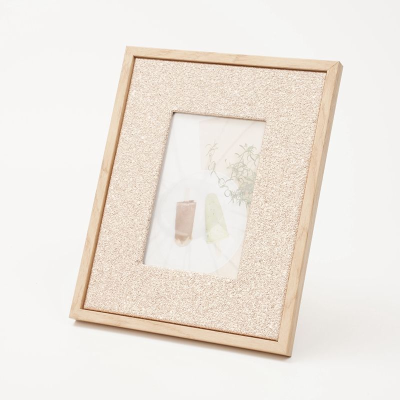 Grain MDF Paper Insert Colorful PU Fabric 5x7 8x10 Wood Grain 4x6 Picture Photo Frame For Decor