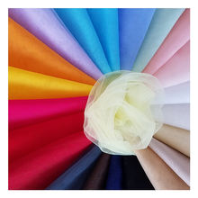 100% nylon transparent warp knit soft tulle net mesh fabric for bag lining