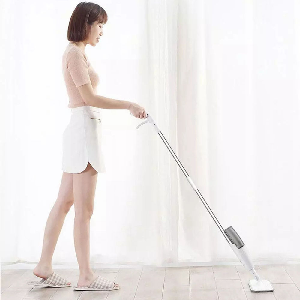 high quality deerma tb500 easy cleaning wet dry dual use 360 magic rotating micro fiber water spray mop for home