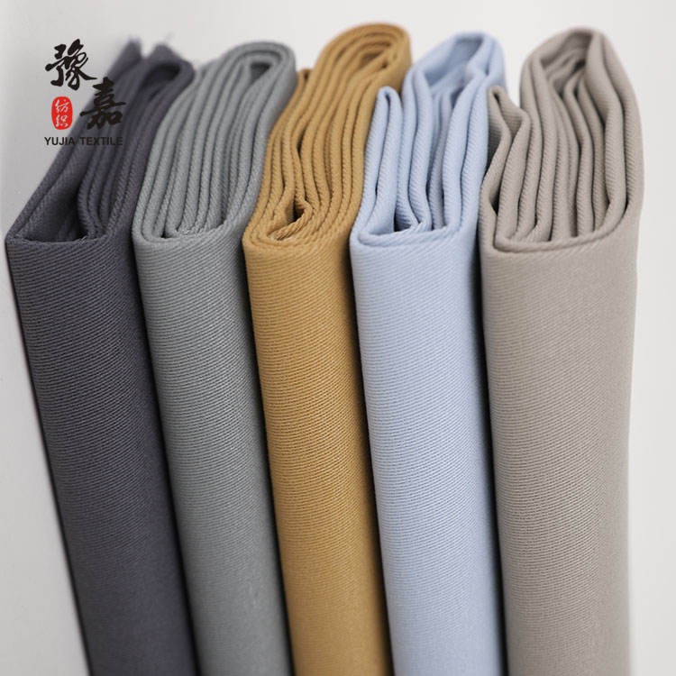 Denim fabric 98% cotton 2% spandex with peach finish woven fabric for trousers
