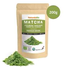 Organic Matcha Green Tea  Premium Grade Powder Japanese Tea Produced in Uji, Kyoto | Ideal for Drinking, 200 gr Bag