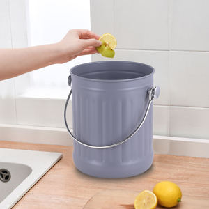 Durable usage stainless steel kitchen compost bin metal compost bucket counter compost bin