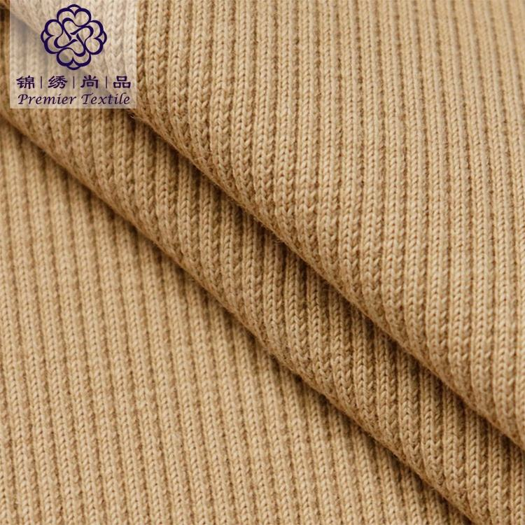 Free sample card rib knit fabric cotton spandex 2x2 rib fabric for clothes hem