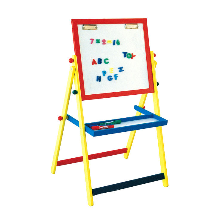 Customized wood tabletop display easel , kids art easel