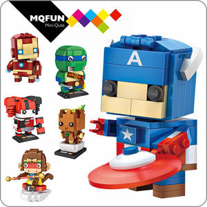 LOZ Mini Blok Kartun Film Pahlawan Super Besi Anak DIY Model Bangunan Kit Bata Angka Blok Bangunan Action Figure Mainan
