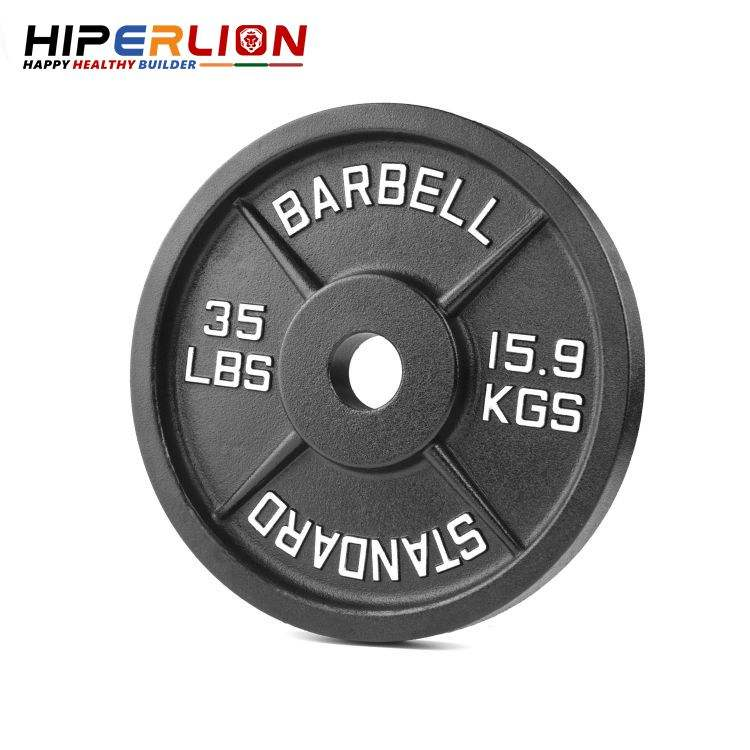 Barbell 5kg Steel 2 Inch 20kg Standard 45lb Cast Iron Disc Weight Plates For Sale