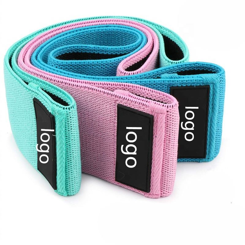 Wholesale fabric resistance band exercise workout custom hip band