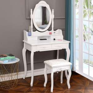 Hotel Dresser Mirror Bedroom Small White Dressing Table With Mirror