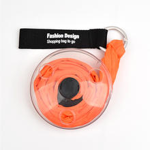 Round disc roll up  folding to storage fashionable shopping bag
