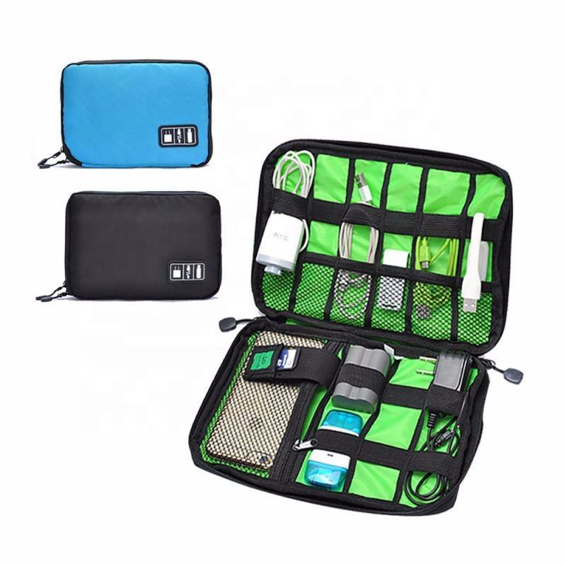 Portable Tahan Air Kabel Tas Penyimpanan Perjalanan Digital Elektronik Aksesoris Organizer USB Charger Earphone Pemegang Case Kantong