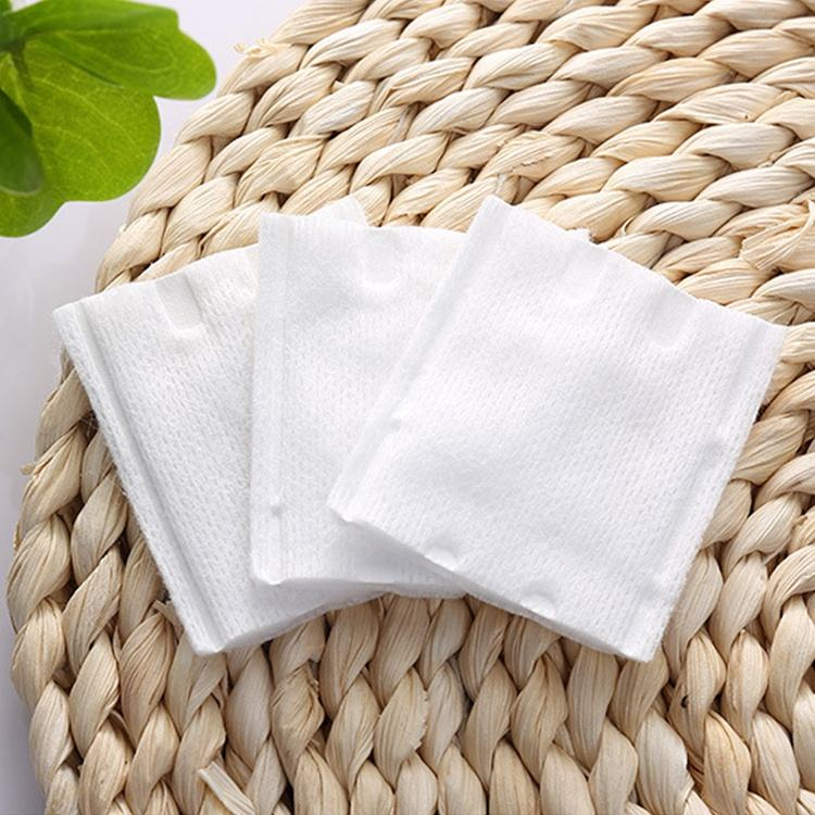 High Quality Factory Manufacture Disposable Square Shape Cosmetic Makeup Remover Facial Cleaning Cotton Pad Absorb Pads