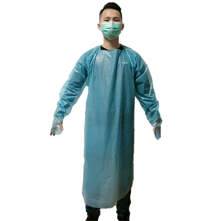 disposable safty plastic apron cpe protection isolation gown