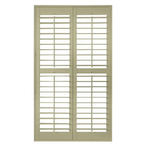 Solid wood louvers window shutters sliding folding pvc plantation shutter
