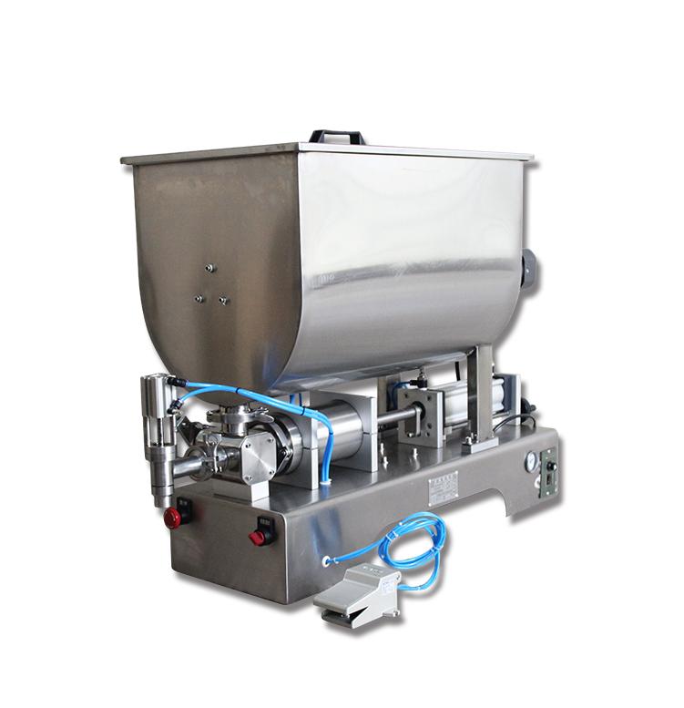 Automatic Chili Sauce Filling Machine Sauce Quantitative Filler Machinery Pneumatic Slurry Mixing Filling Machine