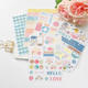 Customized weekly planner words quote sticker paper summer journal sticker alphabet letter sticker for scrapbook
