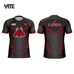 YITE Custom fluorescence color e-sports wear, neon color jersey esports shirts