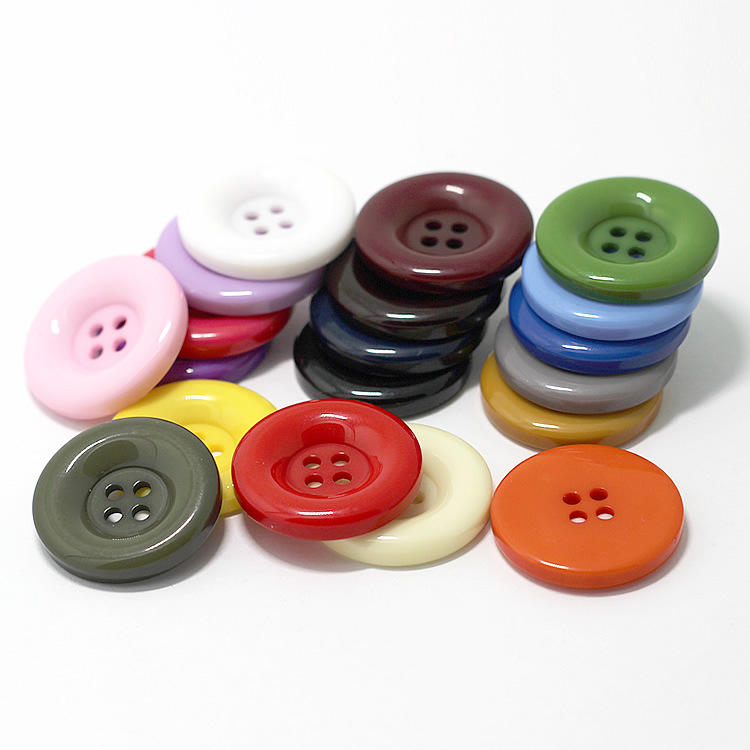 Fancy candy color dyeing round resin sewing button