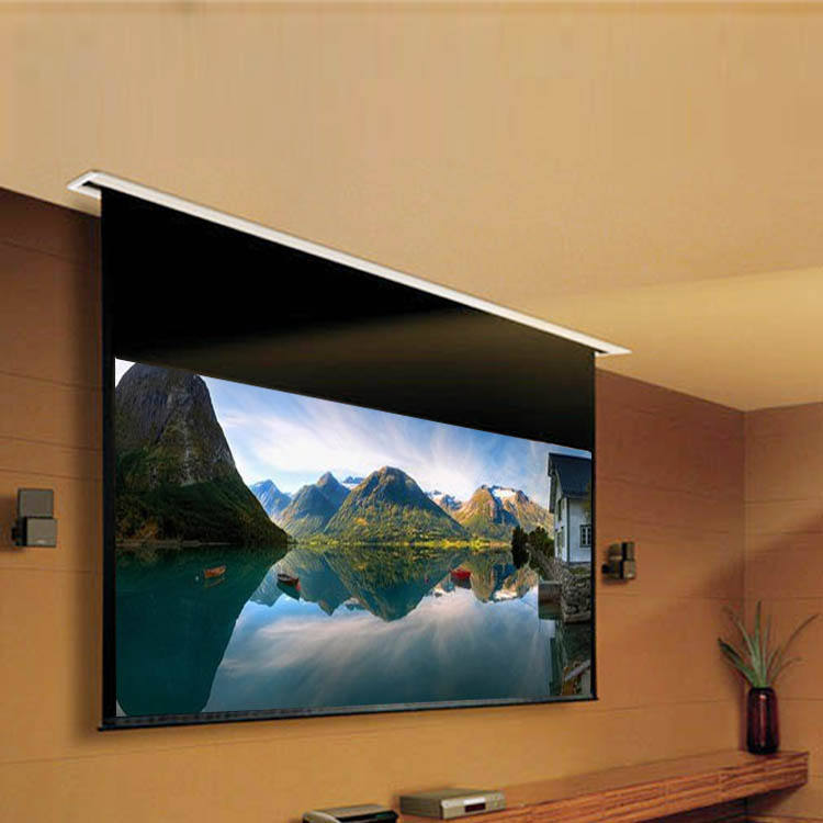 "16:9 120"" 110'' 100'' Electric Ceiling Projection Video screen for projectors"