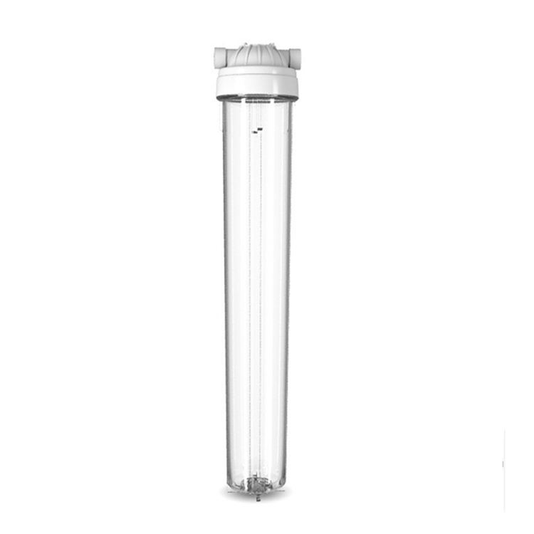 "20"" clear transparent water purifier pre-filter housing explosion-proof clear water filter housing"