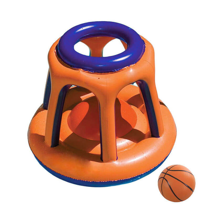 PVC Inflatable Basketball Hoop Pool Floating Toys Kids Swing Pool Sport game Children Water Basketball Stand