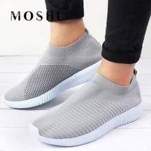 Vulcanize Knitted Women Sneakers Socks Shoes Ladies Mesh Casual Shoes Flats Shoes Trainers Basket Femme Walking Zapatillas Mujer