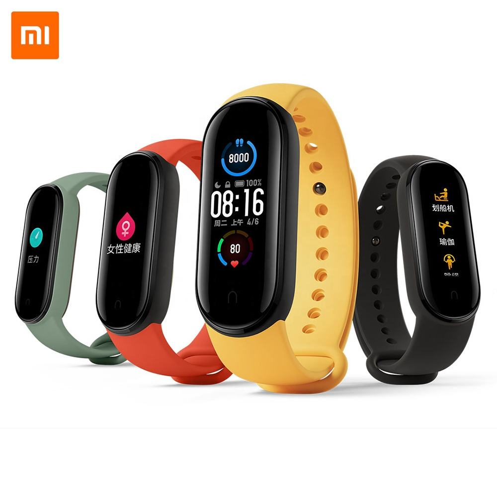 "Original Xiaomi Mi Band 5 Smart Bracelet 4 Color 1.1"" AMOLED Screen Heart Rate Fitness Tracker Bluetooth 5.0 Waterproof Miband5"