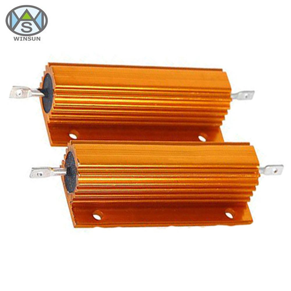 High Stability 200W 1オームGold Aluminum Housed Wirewound Power Resistor For Elevator