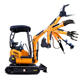 1.8 Excavators for sale 1ton 2ton 2.5ton new prices Chinese Small Digger Cheap Mini Excavator hydraulic price For Private Garden