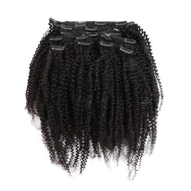 Afro kinky curly natural hair extensions 4A/4B/4C/3A/3B/3C clip in extension human hair