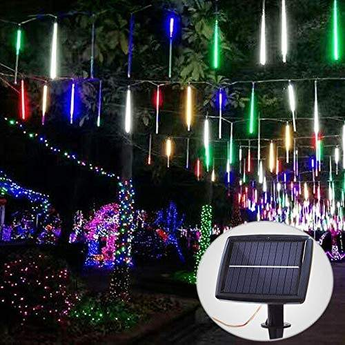 Solar Meteor Shower Lights Outdoor Raindrop Lights 10 Tubes 240 LEDs Rain Lights Decorative luces exterior solar navidad&2020