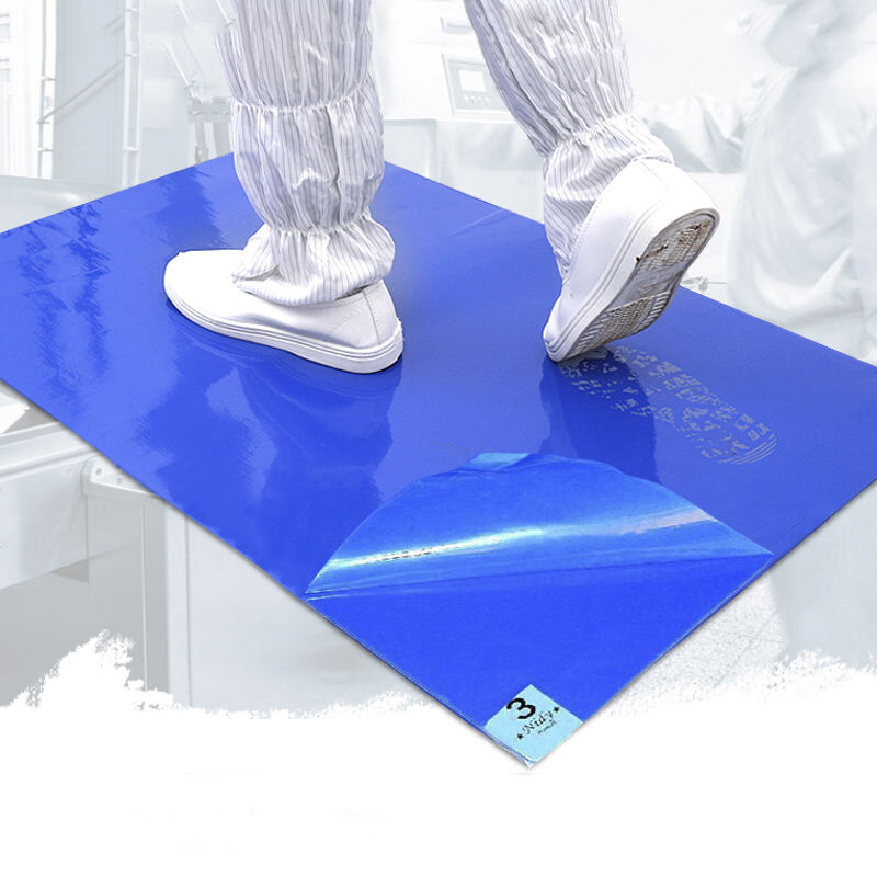 esd blue silicone 24 * 36 60 * 90 dust-free foot anti-static rubber pad clean room washable Sticky mat clean for hospital mats