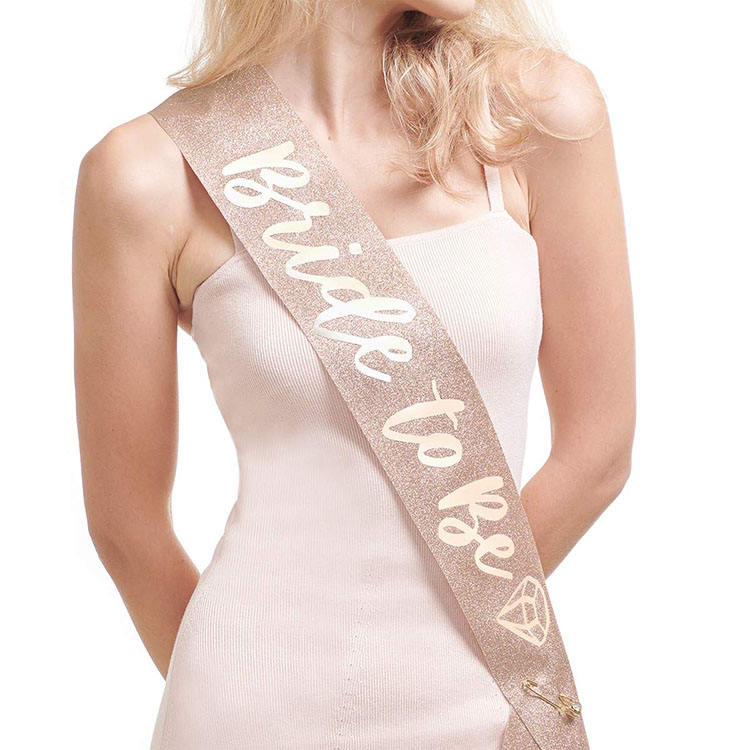 Nicro Rose Gold Glitter Bruidsmeisje Bruids Douche Bachelor Party Sash