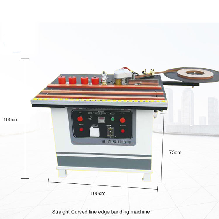 China pvc portable manual edge bander curve and straight edge banding machine