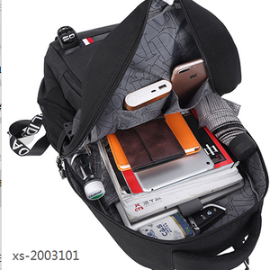 USB charged backpack fine pattern of back bag canvas tool bag