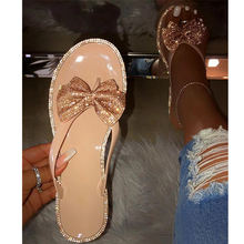 Women Diamond PVC Jelly Slippers Sandals For Women Ladies Slippers Summer Beach Slippers Flip Flops With Butterfly