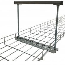 Customized Sizes Flexible Hot Dip Galvanized Steel Overhead Wire Mesh Cable Trays