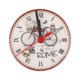 Clock Gift Round Shape Decorative Wall Clock Ceramic Tile Mini Clock For Gift With Alarm Function