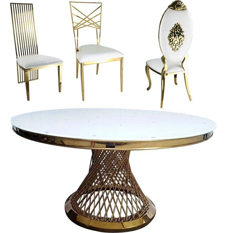 Dining Coffee Mirrored Buffet Set Round Model With Price Modern Stainless Steel Room And Chair 6 Marble Mirror Table Top Wedding